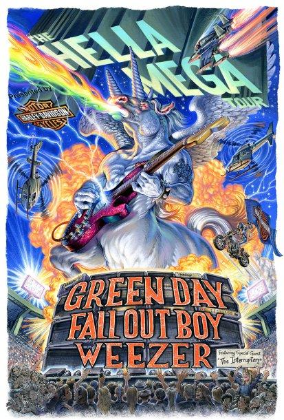 "Image result for green day mega tour banner"""